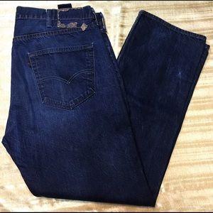 Mens Levis 501 Dark Wash Jeans